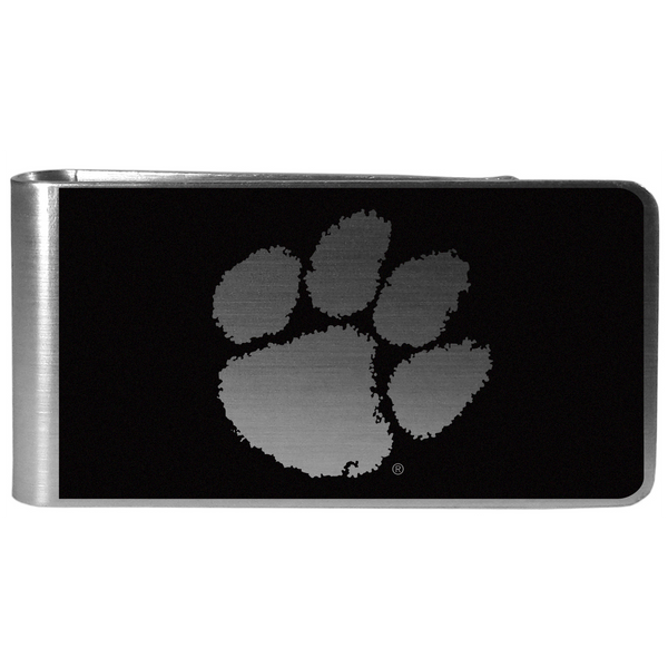 Clemson Black and Steel Money Clip