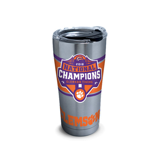 Clemson University 2018 National Champions 20oz. Insulated Tervis Tumbler