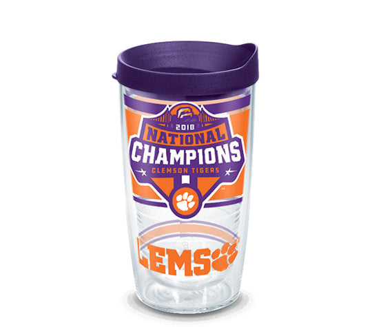 Clemson University 2018 National Championship 16oz. Tervis Tumbler