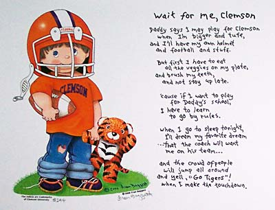 "Clemson Print - ""Wait for Me, Clemson"" Boy"