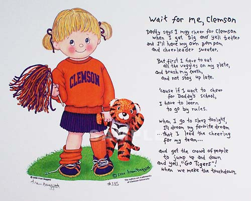 "Clemson Print - ""Wait for Me, Clemson"" Girl"