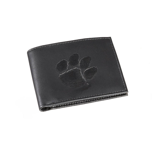 Clemson Men's Leather Bi-fold Wallet