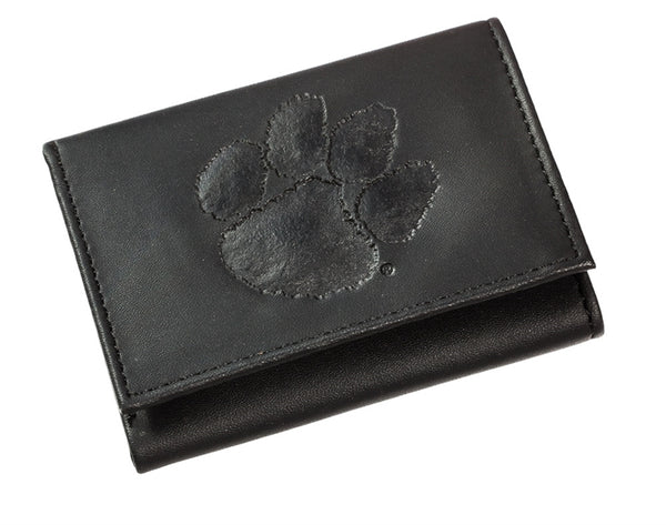 Clemson Men's Leather Tri-fold Wallet