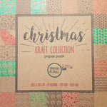 Paper Pad 200 g/m2 - 12'' x 12'' - Christmas Snowflakes & Baubles Kraft collection - Crealive