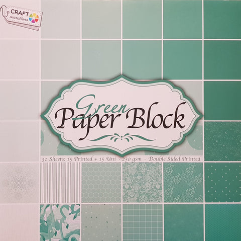 Paper Block 230 g/m2 - 12'' x 12'' - Green - Crealive