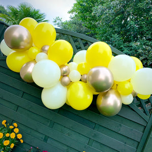 Lime,Ivory and Chrome Gold Balloon Garland