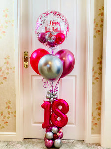 Personalised 18th Birthday Bubble Bouquet