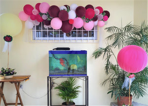 Burgundy,White,Pink ,Magenta Balloon Garland