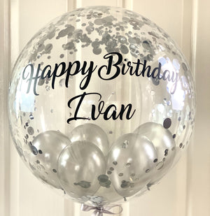 Personalised confetti  Gumball Balloon