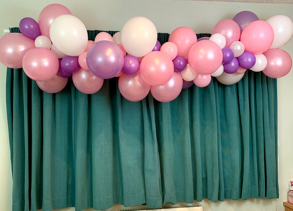 Pink,White and Lilac Balloon Garland