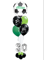 Football Theme Green and  Balloon bouquet
