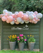 Pastel coloured Balloon Garland