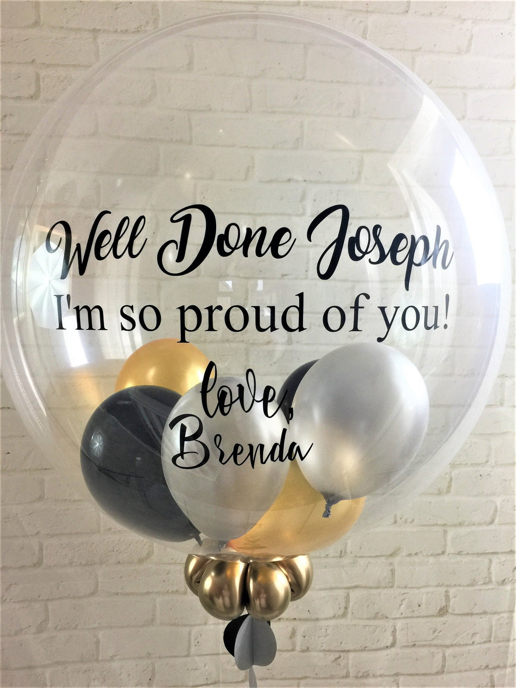 Personalised Graduation Balloon Gift - Gumball