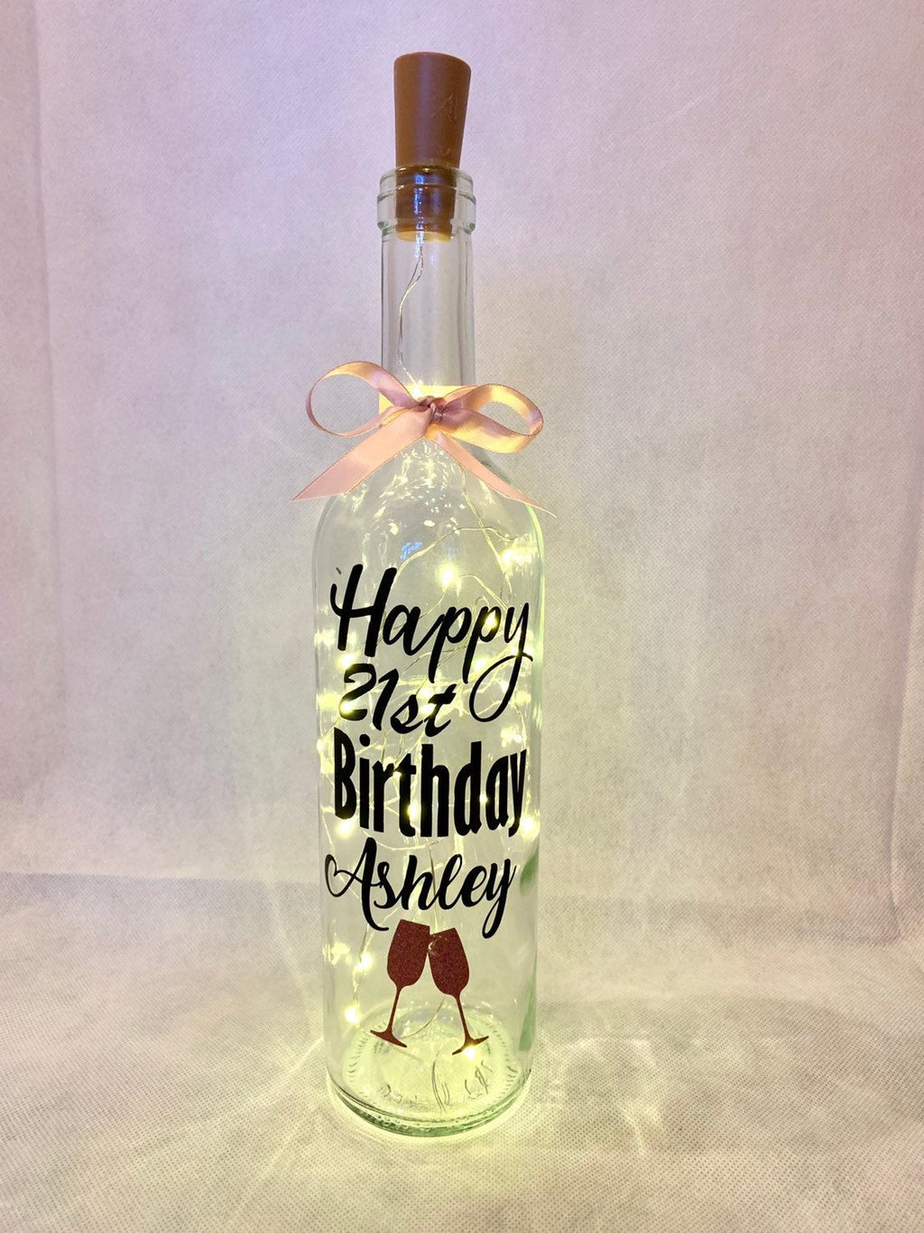 21st birthday wine bottle light