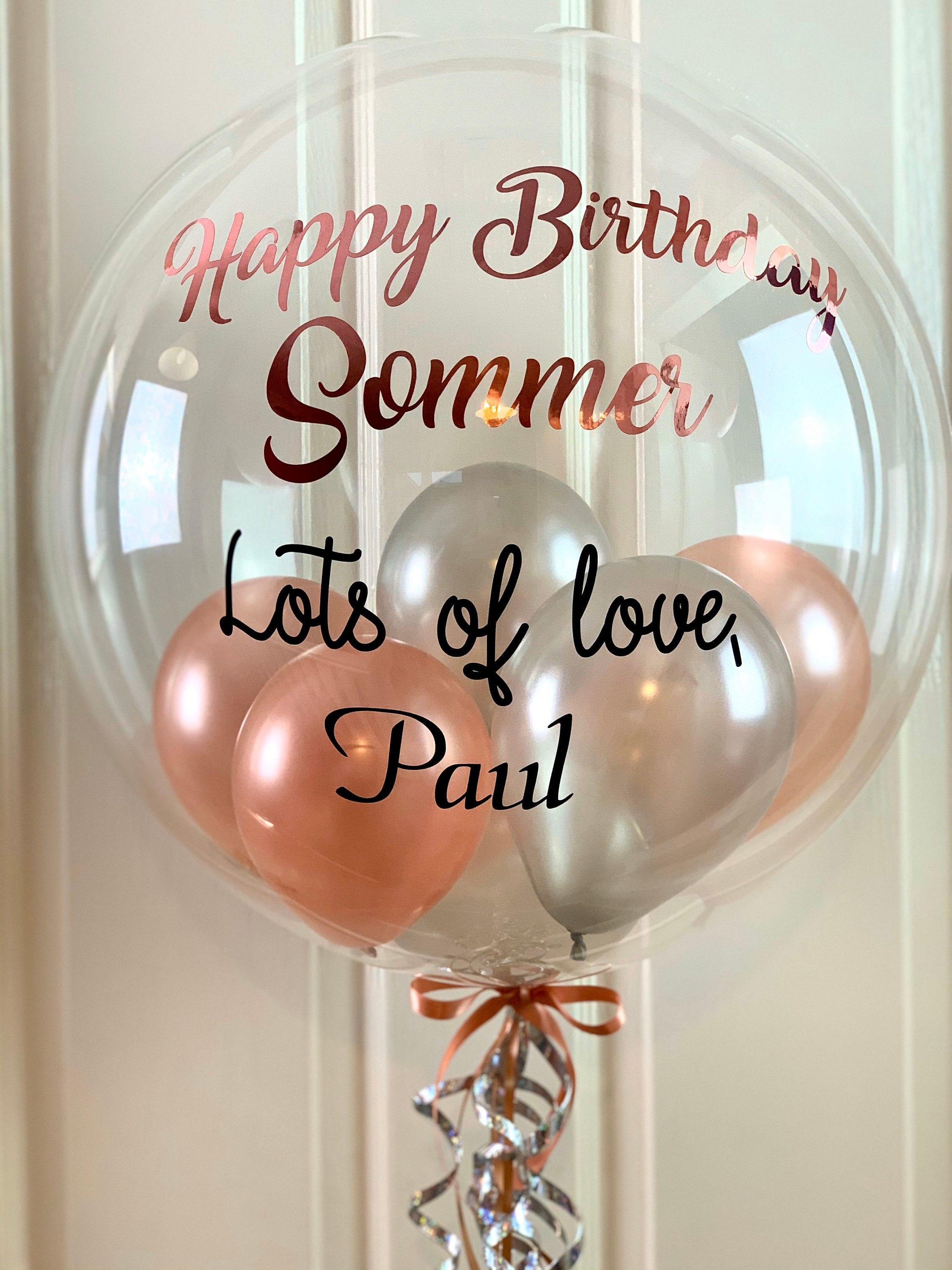 Rose Gold and Silver Birthday Balloon