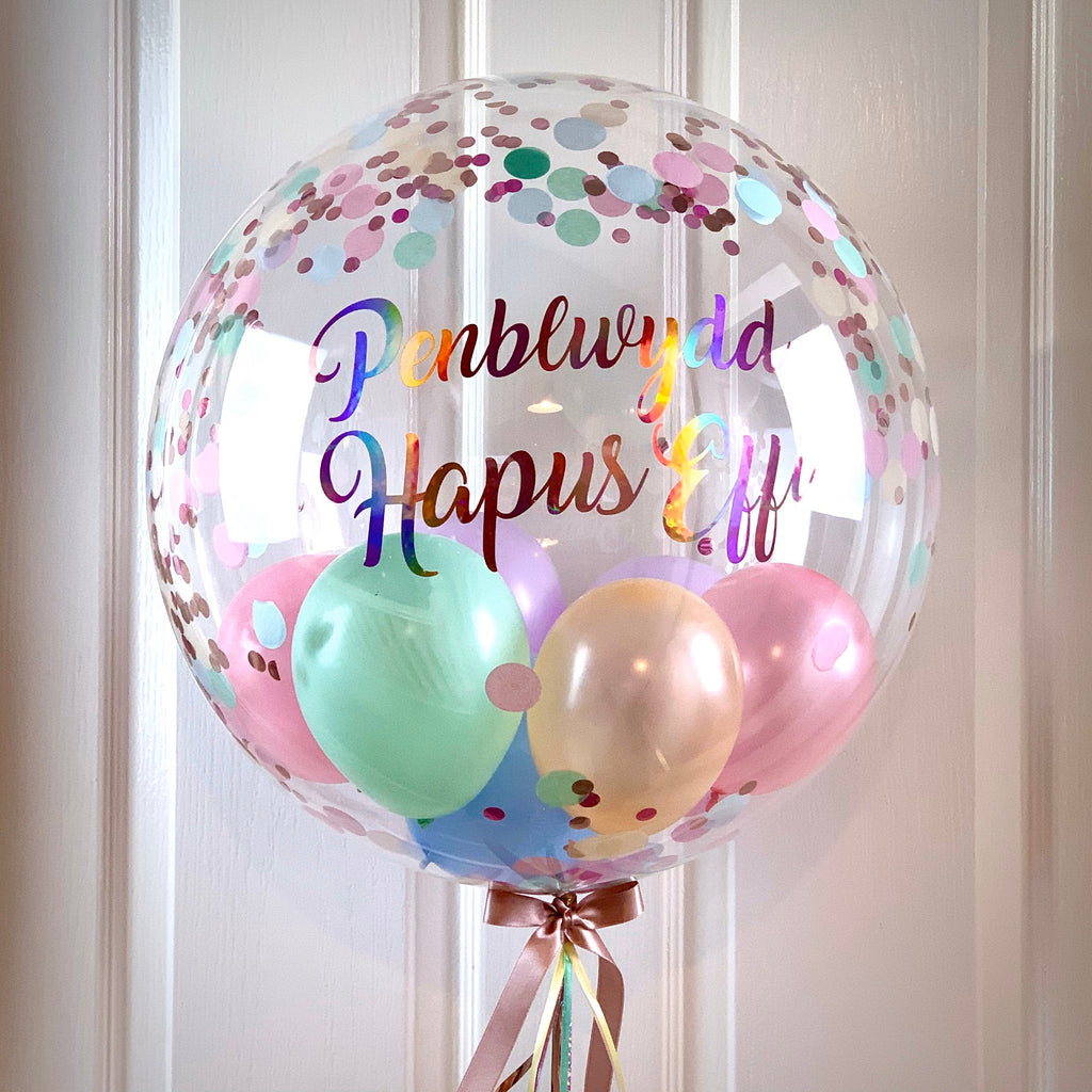 Pastel Confetti Balloon 1st Birthday