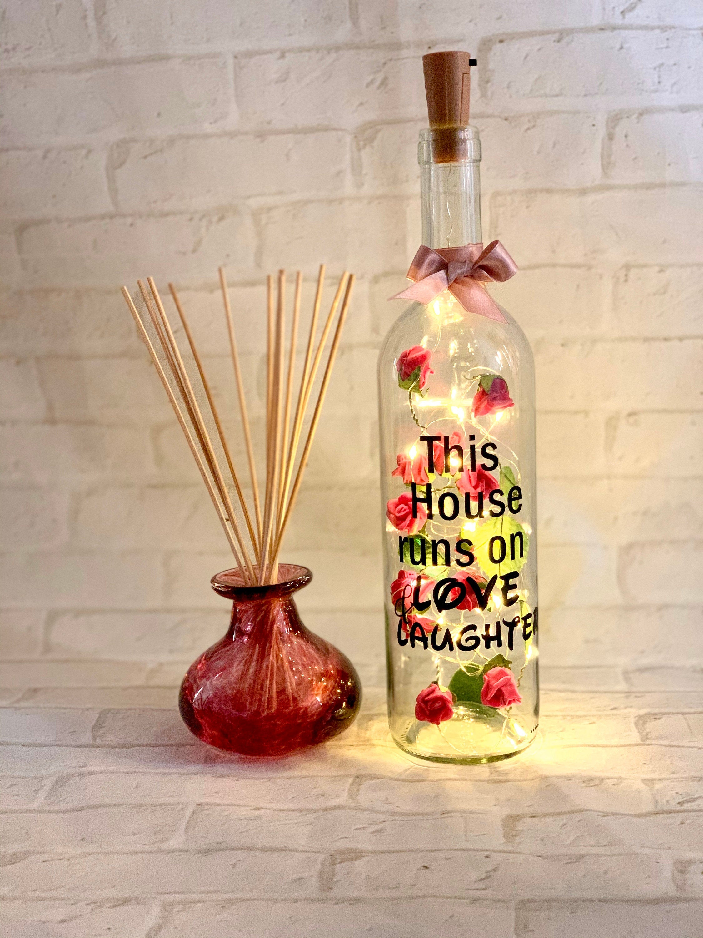 Floral Wine Bottle Lights
