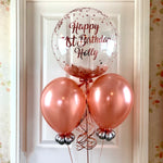 Personalised Rose Gold Birthday Balloon Bouquet