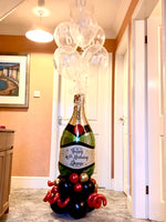 Personalised Large champagne balloon Display