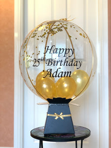 Personalised balloon with surprise money gift