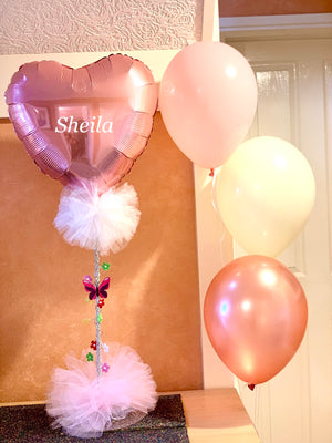 Personalised Balloon Centrepiece