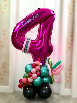 Personalised Large Number Balloon Display