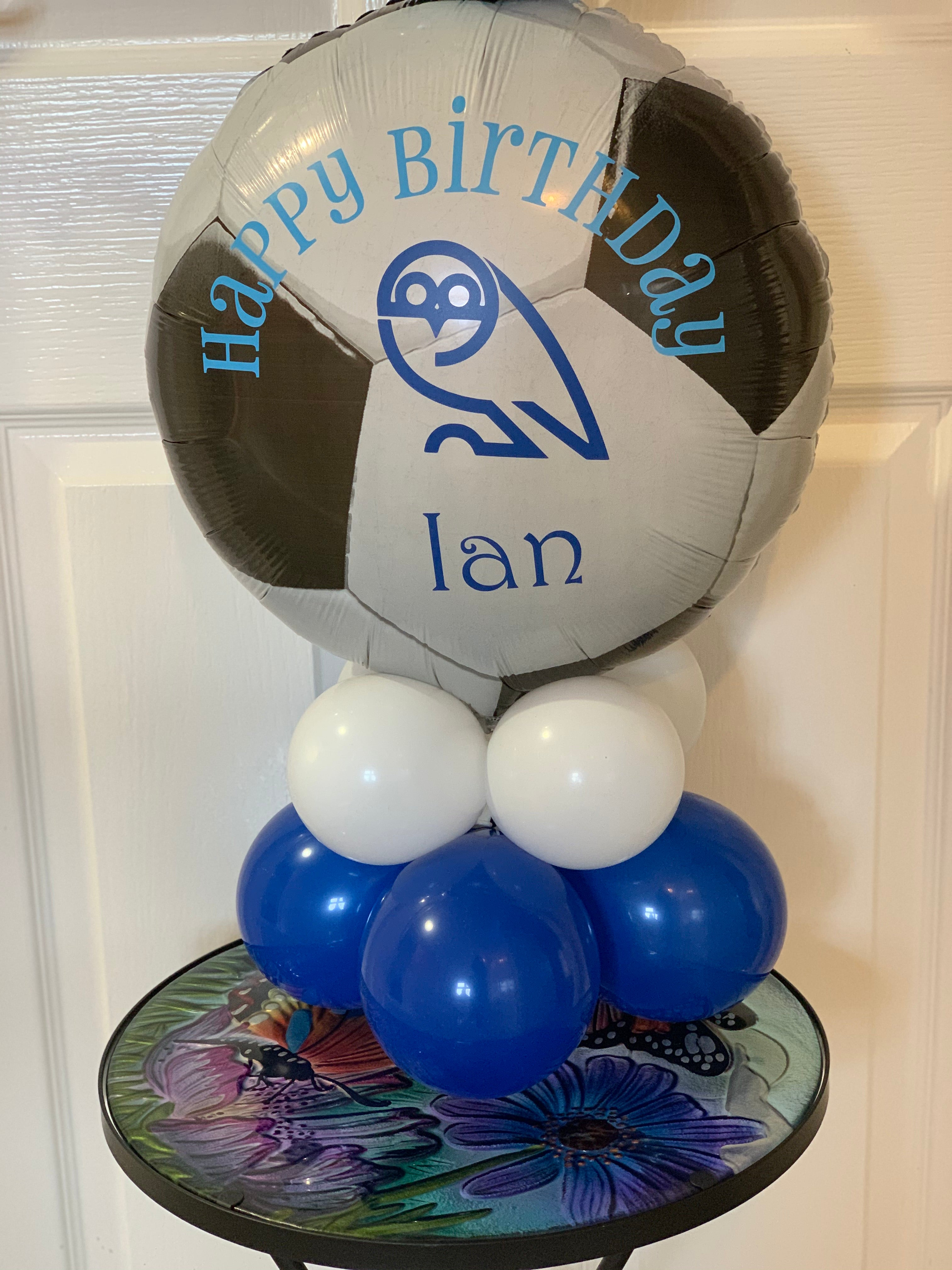 Personalised football themed Balloon Display