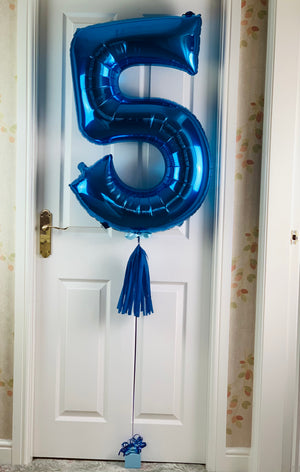 Large Personalised Helium inflated Foil Number