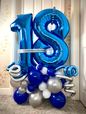 18th Birthday Large Number Decor Package