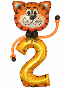 Personalised tiger theme birthday Display