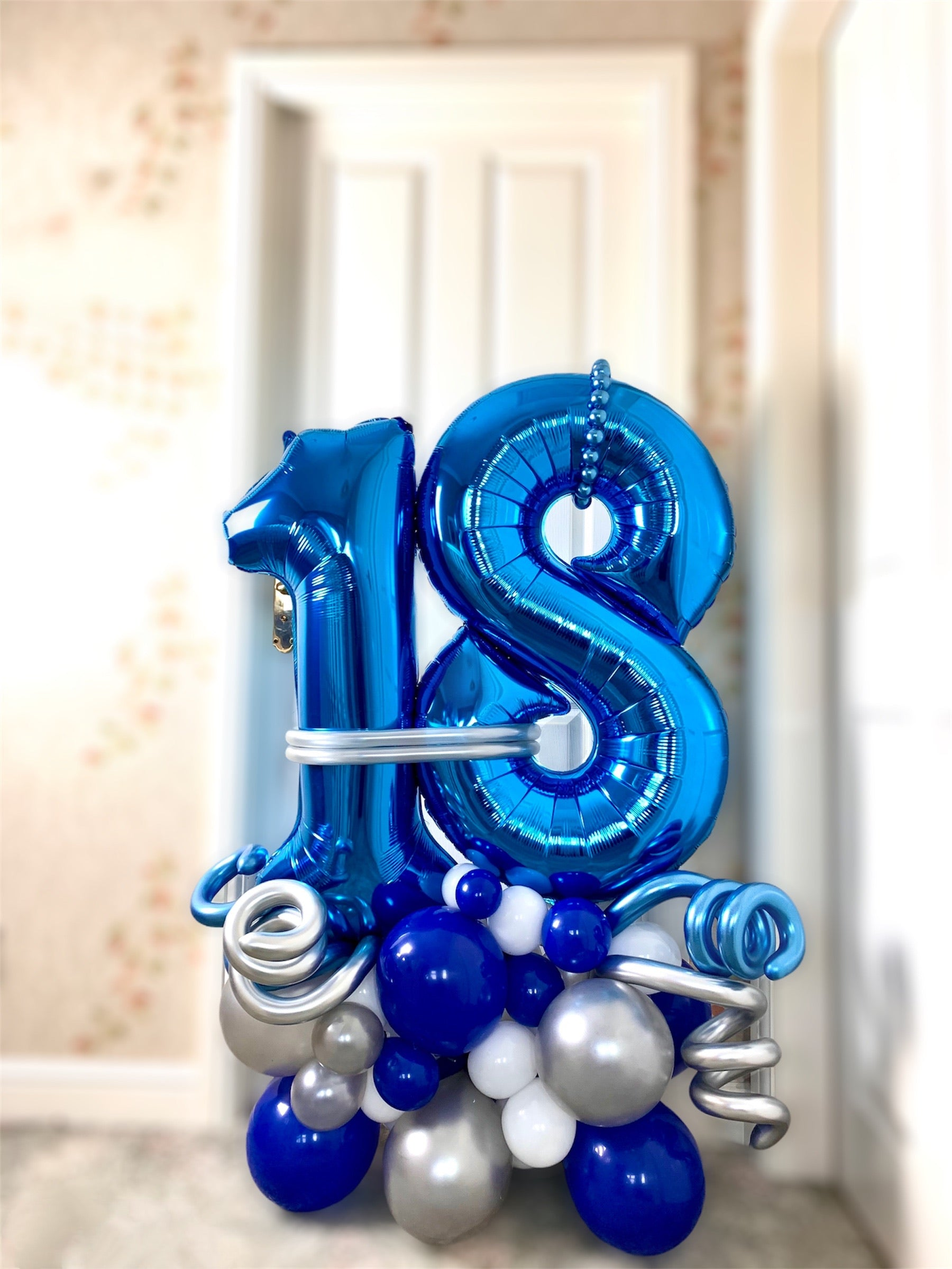 Personalised Large 18th Birthday Balloon Display