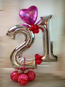 Personalised 21st Birthday Large  Balloon display