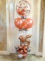 Personalised birthday Balloon display