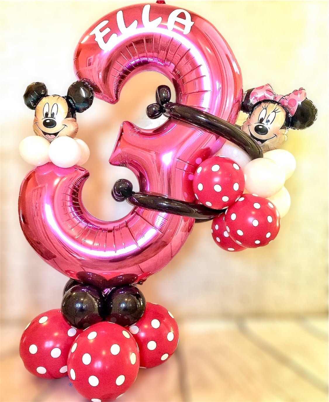 Minnie Mouse Birthday Balloon Display