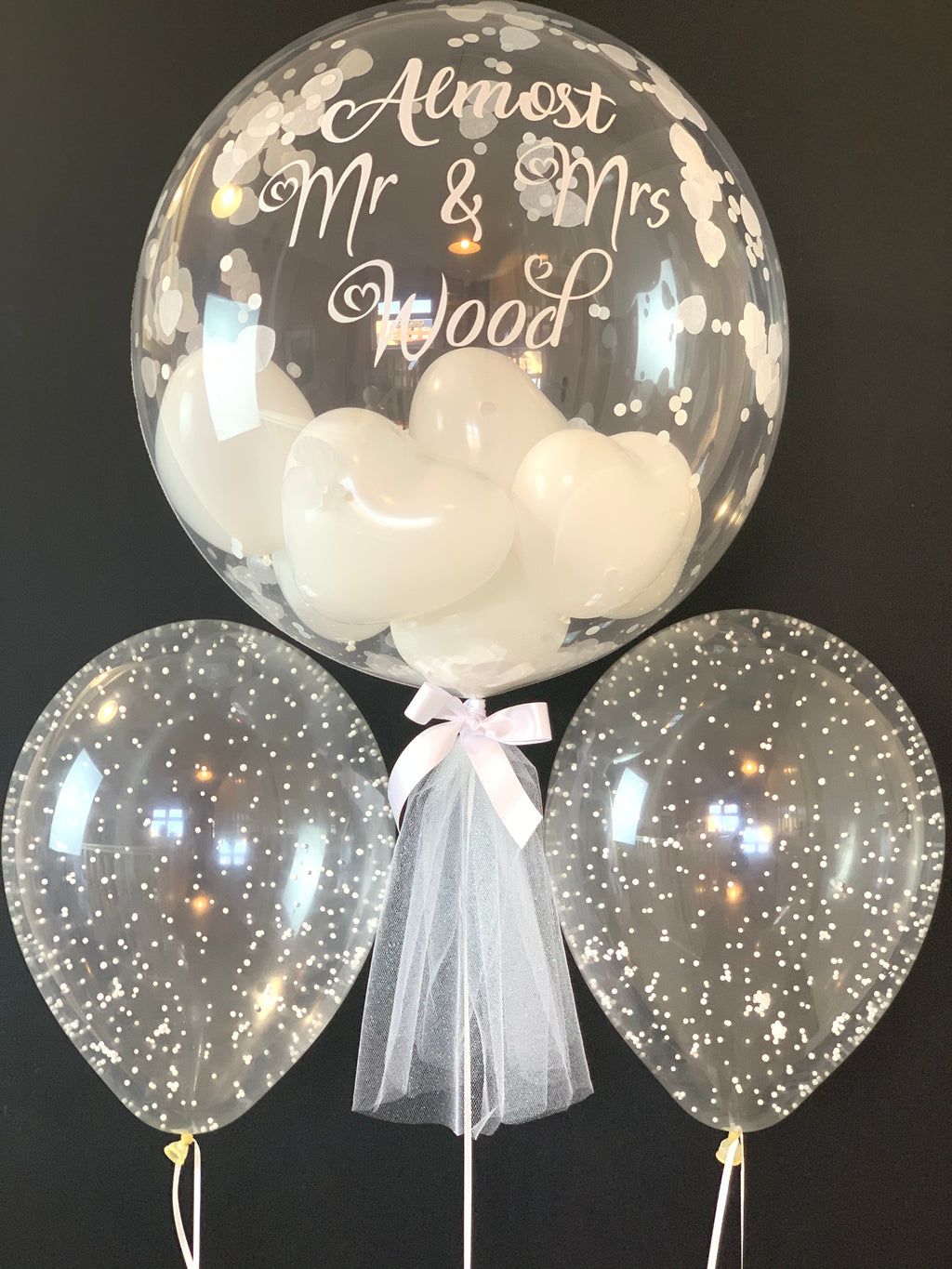 Personalised wedding balloon bouquet