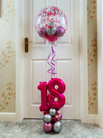 Personalised  Birthday bubble display