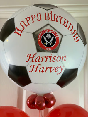 Personalised Football Theme Balloon Display