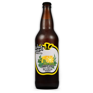 Maker's Series Lemon Hops Howling Moon Craft Cider, made from heritage apples in Oliver BC