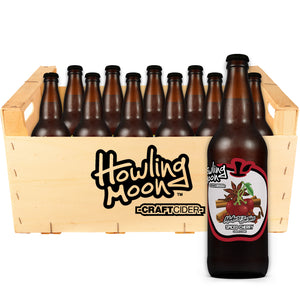 Maker's Series Spiced Cherry Howling Moon Craft Cider, made from heritage apples in Oliver BC 12 bottle crate