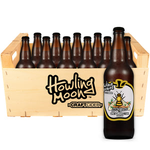 Maker's Series Spicy Ginger Cyser Howling Moon Craft Cider, made from heritage apples and honey in Oliver BC 12 bottles