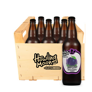 Maker's Series Lavender Plum Howling Moon Craft Cider, made from heritage apples in Oliver BC 6 bottle crate