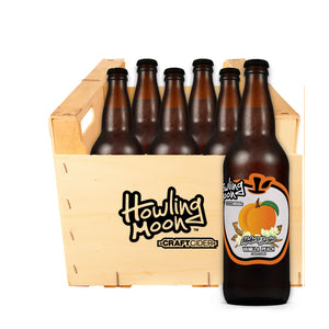 Maker's Series Vanilla Peach Howling Moon Craft Cider, made from heritage apples in Oliver BC 6 bottle crate
