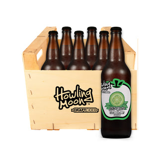 Maker's Series Cucumber Mint Howling Moon Craft Cider, made from heritage apples in Oliver BC 6 bottle crate