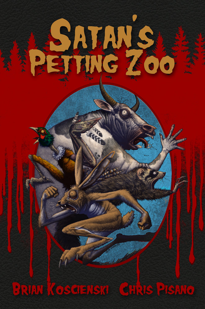 "Koscienski & Pisano take the top spot at Hellbender Books / Verboten Books for March with ""Satan's Petting Zoo"""