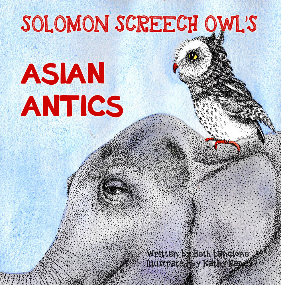 "Lancione and Haney's ""Solomon Screech Owl's Asian Antics"" is the Speckled Egg Press bestseller for July"