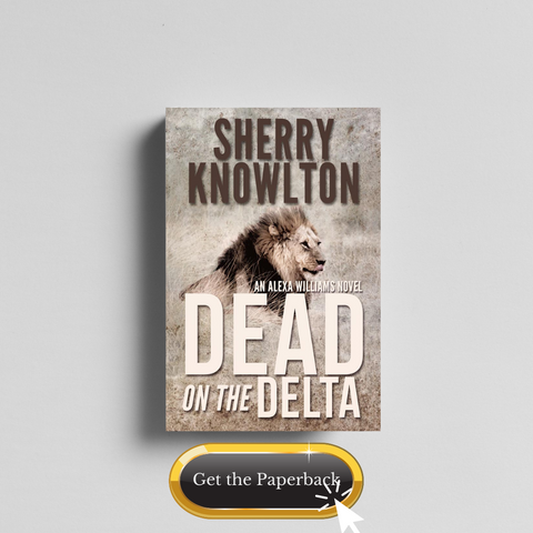 Dead on the Delta by Sherry Knowlton paperback photo