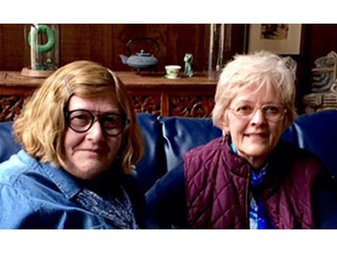 Photo of JM West and Sherry Knowlton, hosts of Milford House Mysteries in the Book Speak Network