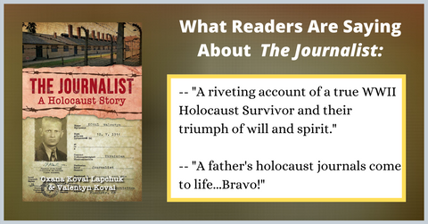 book reviews of The Journalist a holocaust story by Oxana Lapchuk
