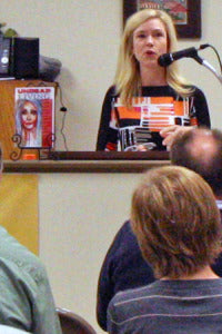 """Cathy Jordan reads her story from """"Undead Living"""""""