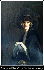"""Lady in Black"" by Lavery"